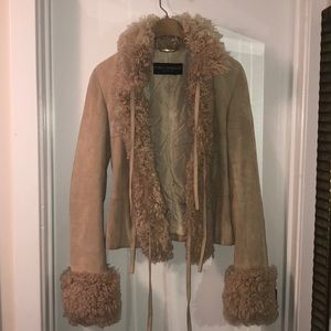 Vintage Dolce & Gabbana suede leather jacket
